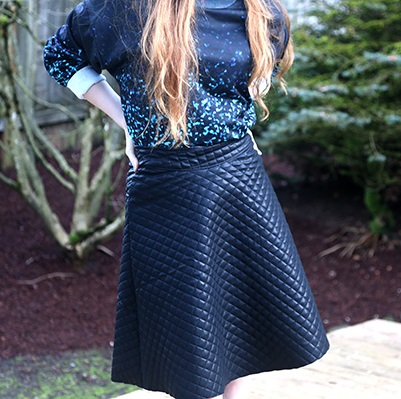 Quilted Midi Skirt Tutorial