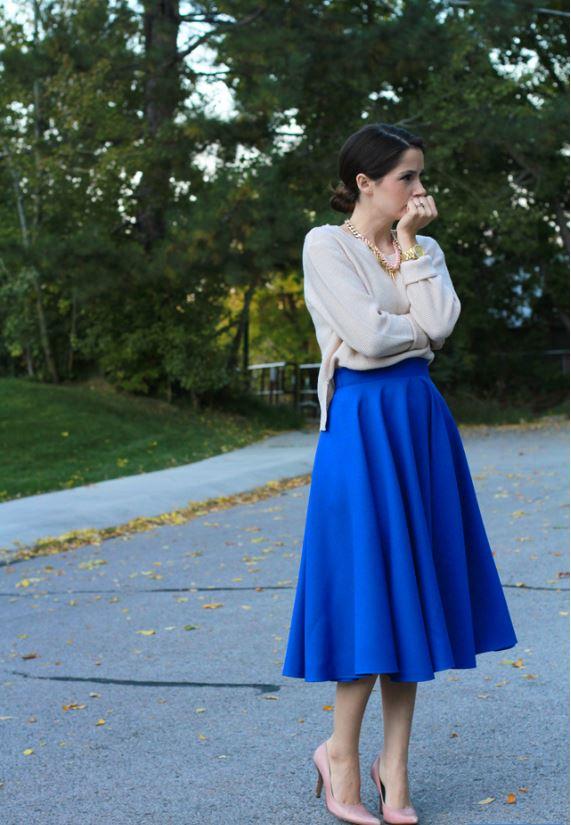 Kate Spade-Inspired Midi Skirt