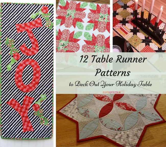 12 Table Runner Patterns to Deck Out Your Holiday Table
