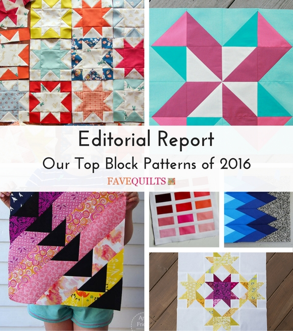 Editorial Report: Our Top Block Patterns of 2016