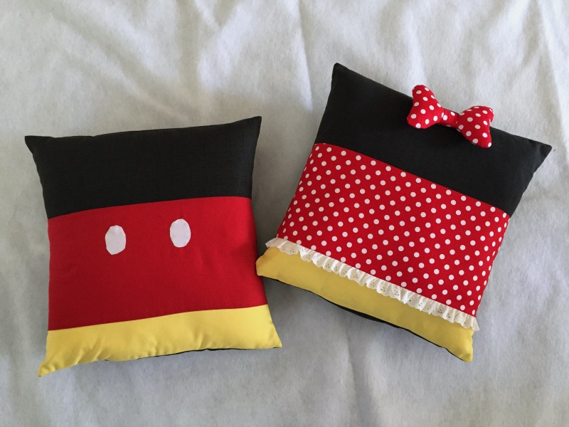 Minnie and Mickey Inspired Pillows