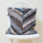 Make a cute denim chevron cushion, tutorial, DIY cushion cover
