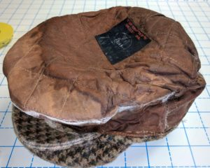 Flat Cap Turned Wrong Side out top view