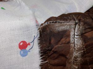 flat cap seam with fabric