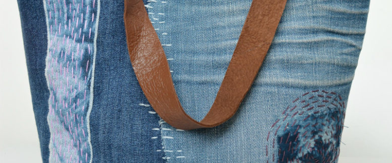 Sashiko-Inspired Denim Tote Bag Pattern