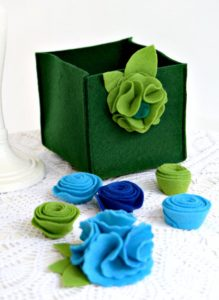 Felt Storage Cube Tutorial With a Free Template