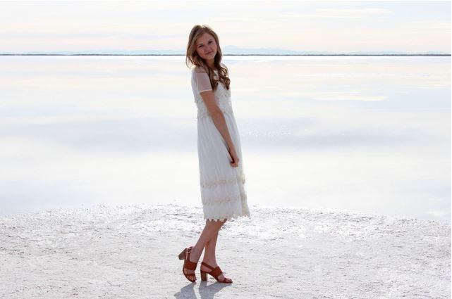 Crochet Lace Midi Dress