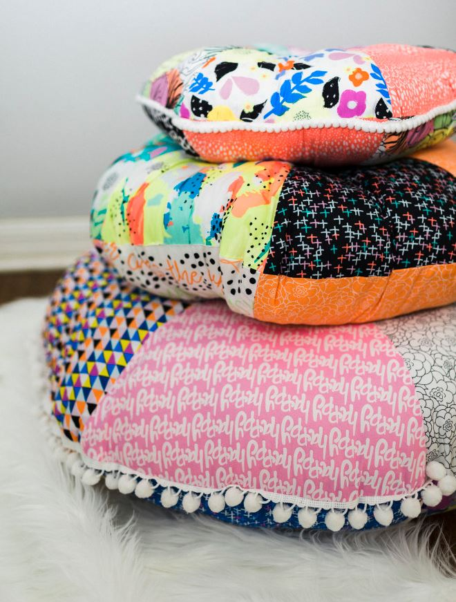 Patchwork Floor Pillows