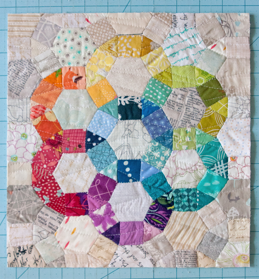 EPP Ferris Wheel Mini Quilt Tutorial