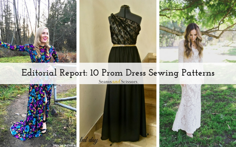 Editorial Report: 10 Prom Dress Sewing Patterns - Seams And Scissors