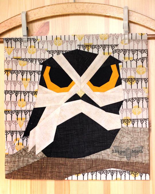 Owl Paper Piecing Block