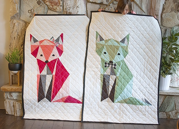 Twin Fox Quilt Pattern