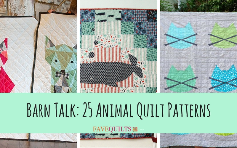 Barn Talk 25 Animal Quilt Patterns Seams And Scissors