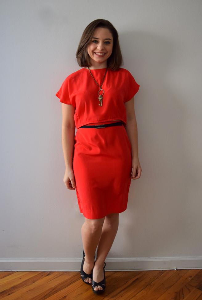 Red Dress Refashion