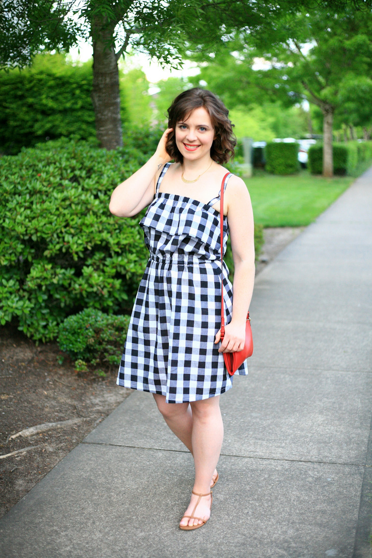 Buffalo Check Black and White Sundress