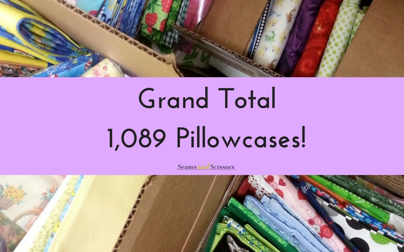 Grand Total: 1,089 Pillowcases!