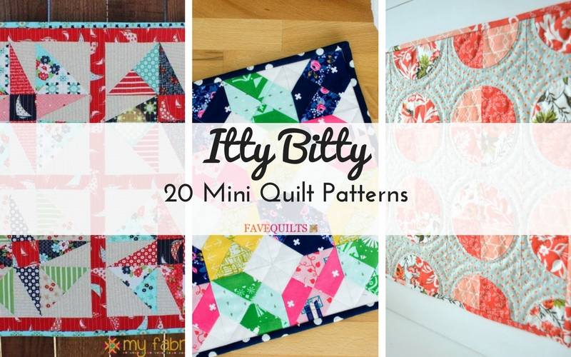 Itty Bitty 40 Mini Quilt Patterns Seams And Scissors Beauteous Mini Quilt Patterns