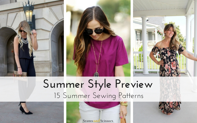 Summer Style Preview: 15 Summer Sewing Patterns