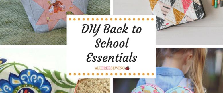 DIY School Supplies: 50 Back to School Essentials