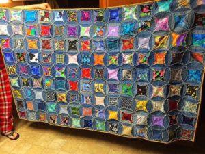 Upcycled Denim Rag Quilt
