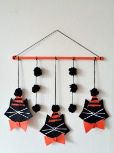 Halloween Black Cat Wall Hanging