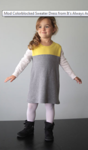 Mod Colorblocked Sweater Dress
