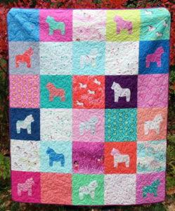 Dala Horse Fat Quarter Quilt
