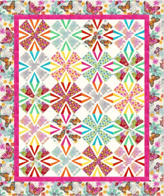 Flutterby Throw Quilt Pattern