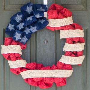 Festive Fourth of July Fabric Wreath