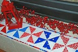 Patriotic Pinwheel Quilt Runner Tutorial