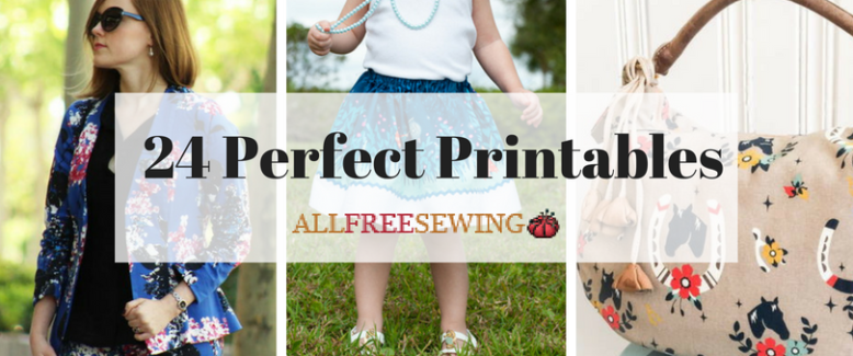 24 Perfect Printable Sewing Patterns