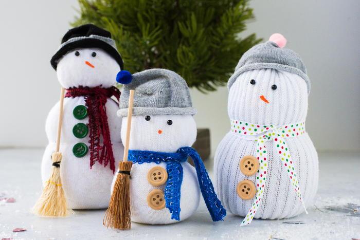 Easy Sock Snowman Tutorial