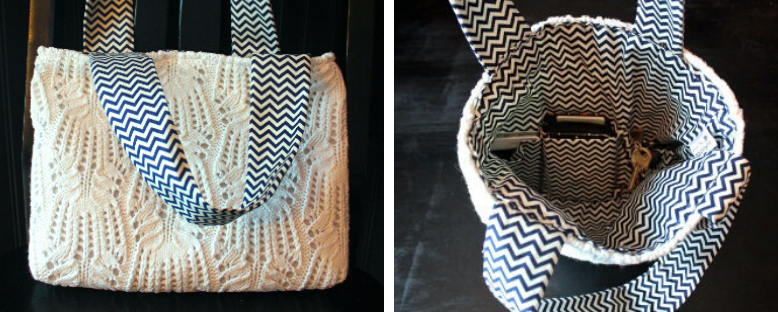 Upcycled Sweater Bag Tutorial